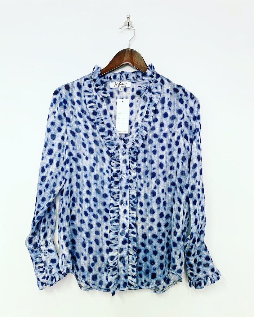 JG Blue Leopard Shirt