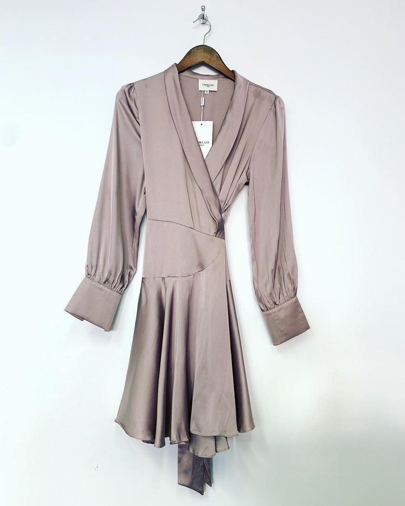 Mia Wrap Dress Mink