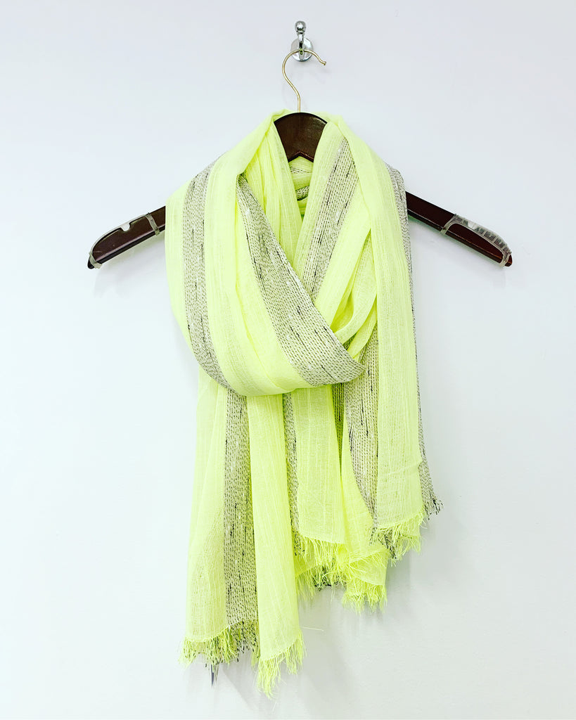 Stripe Scarf Neon Yellow