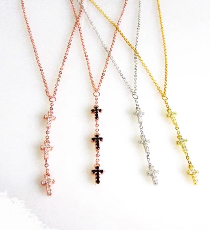 Luisa Lariat Necklace in Rose Gold