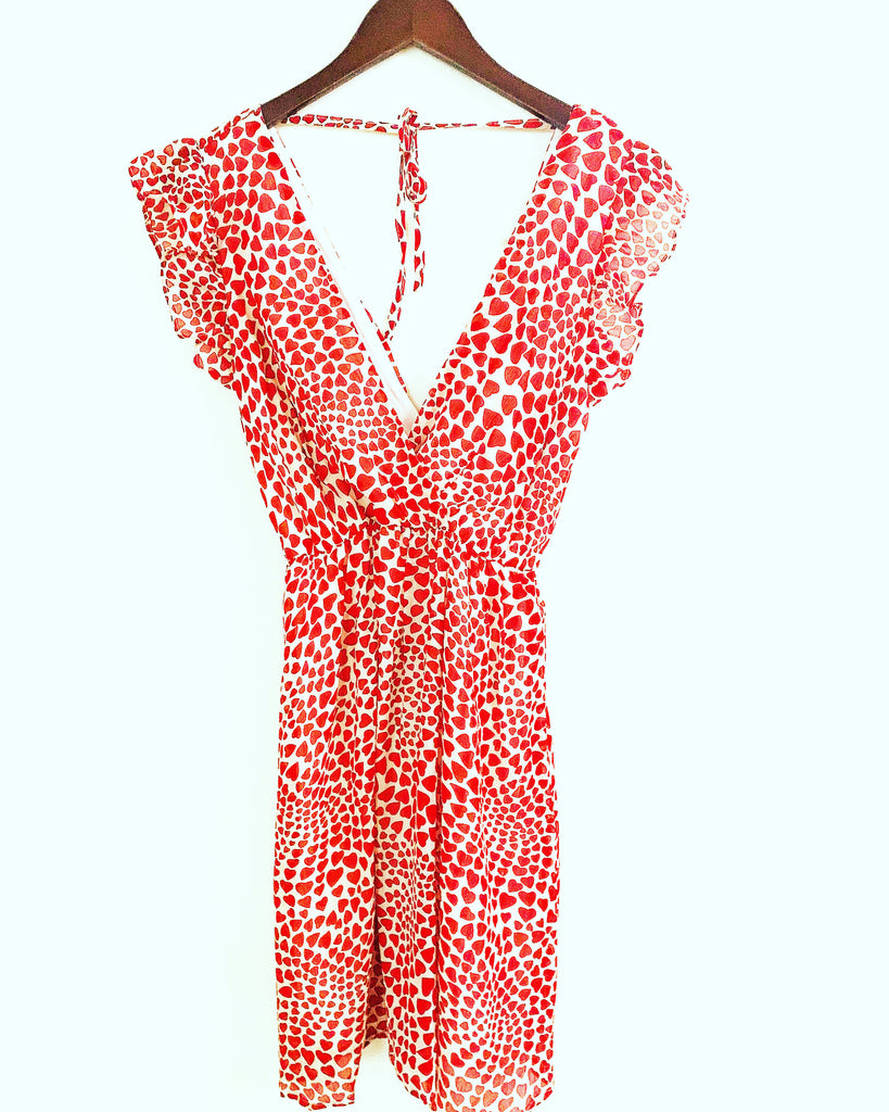 Love Heart Dress Red