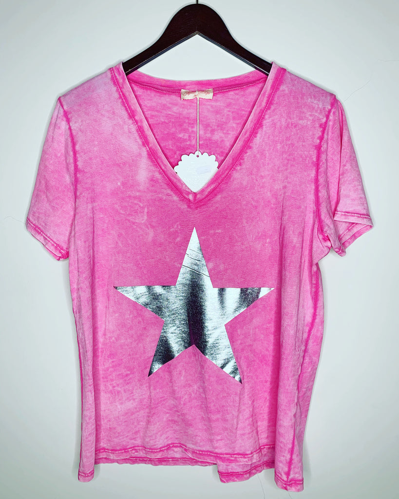 Star Tee Hot Pink