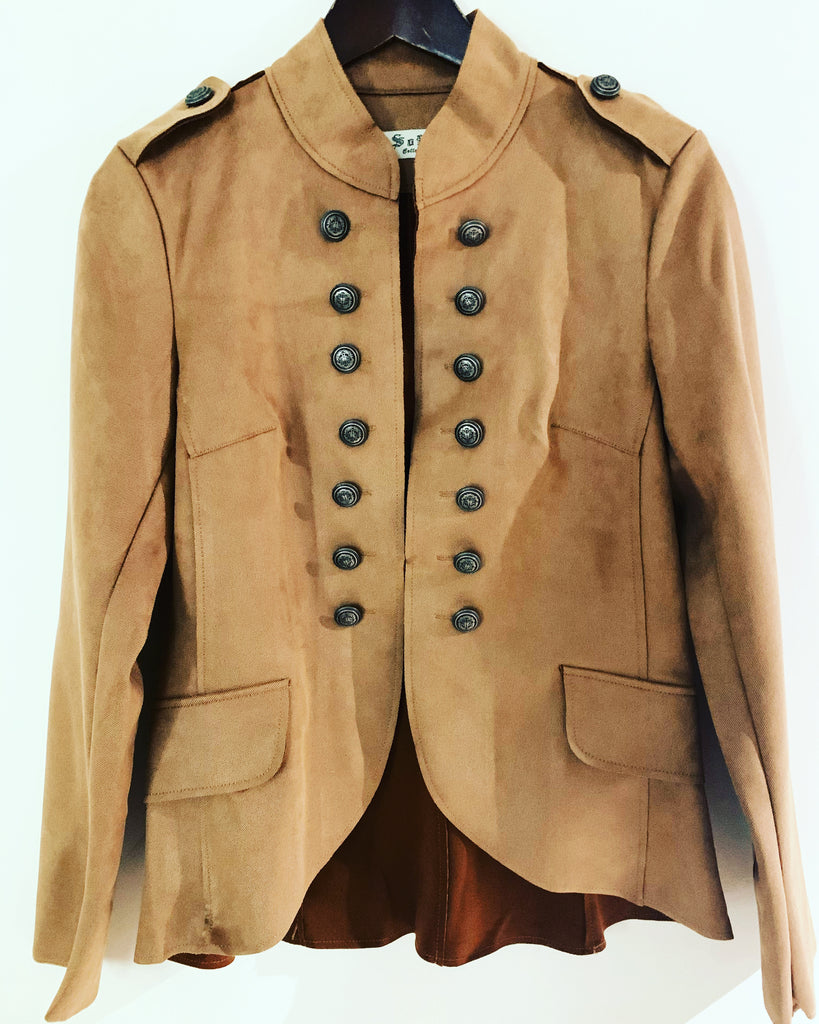 Military Style Jacket Tan