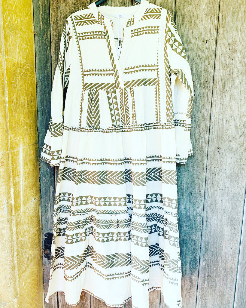 Tribe Maxi Dress Khaki