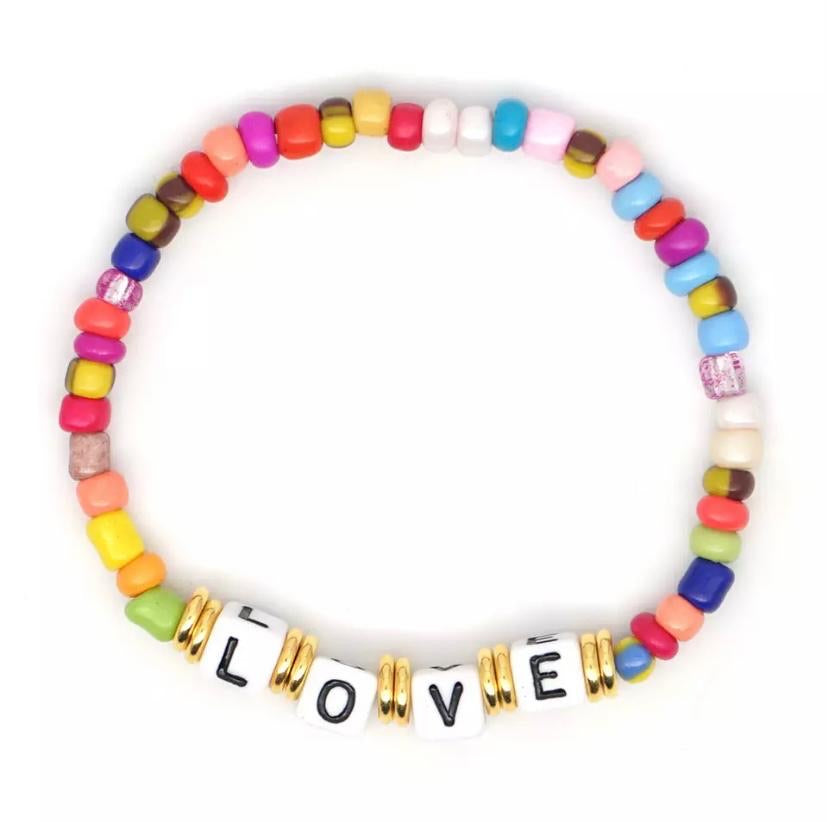 Love Bead Bracelet Multi
