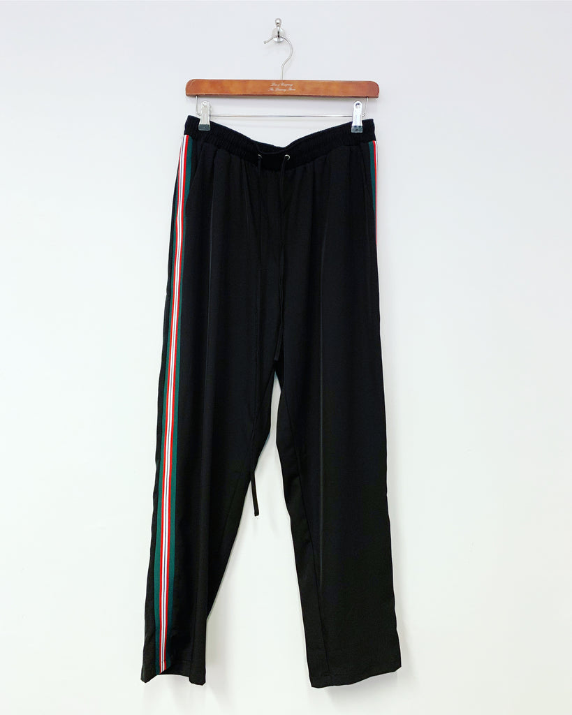 Stripe Lux Pant Black