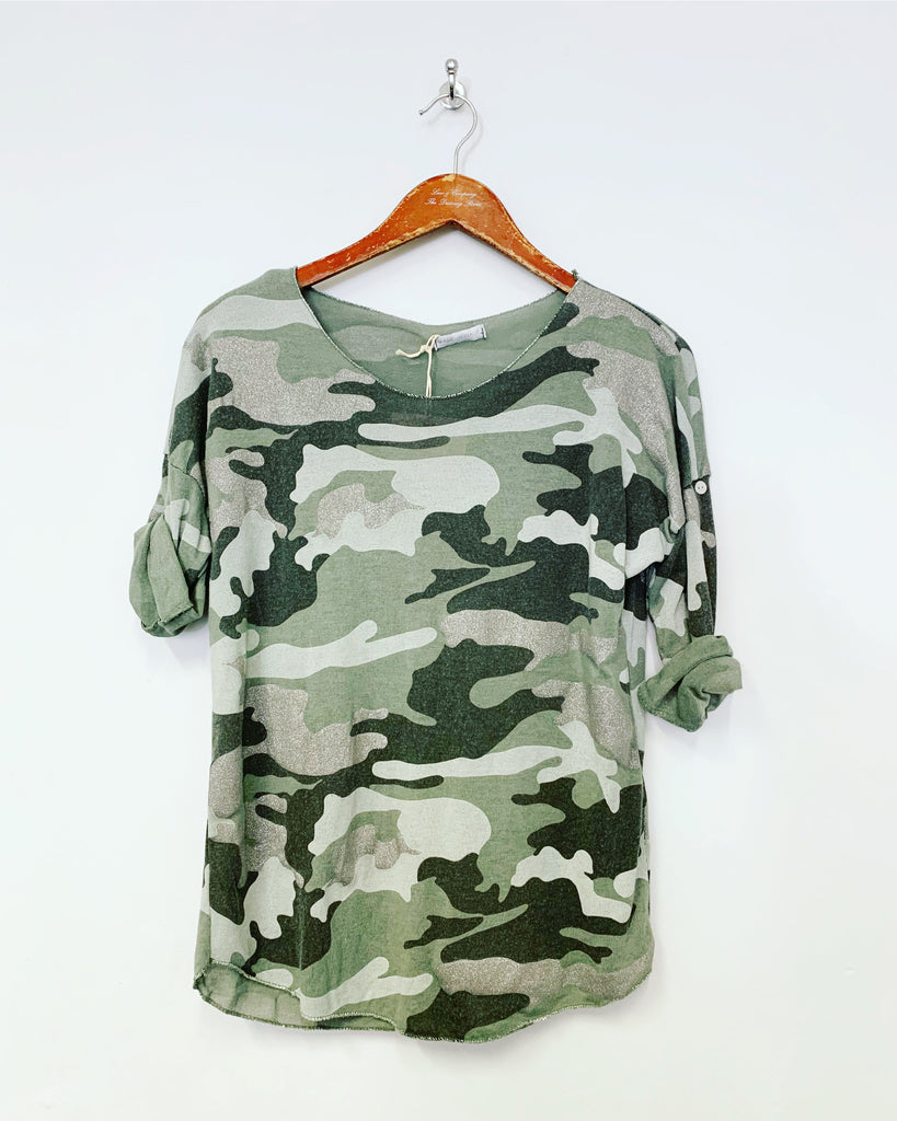 Camo Essential L/S Top Khaki