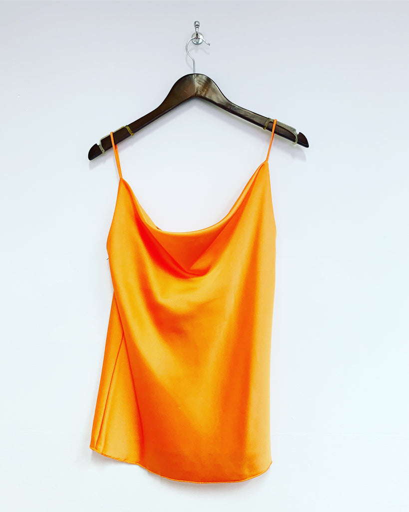 Cowl Neck Cami Orange