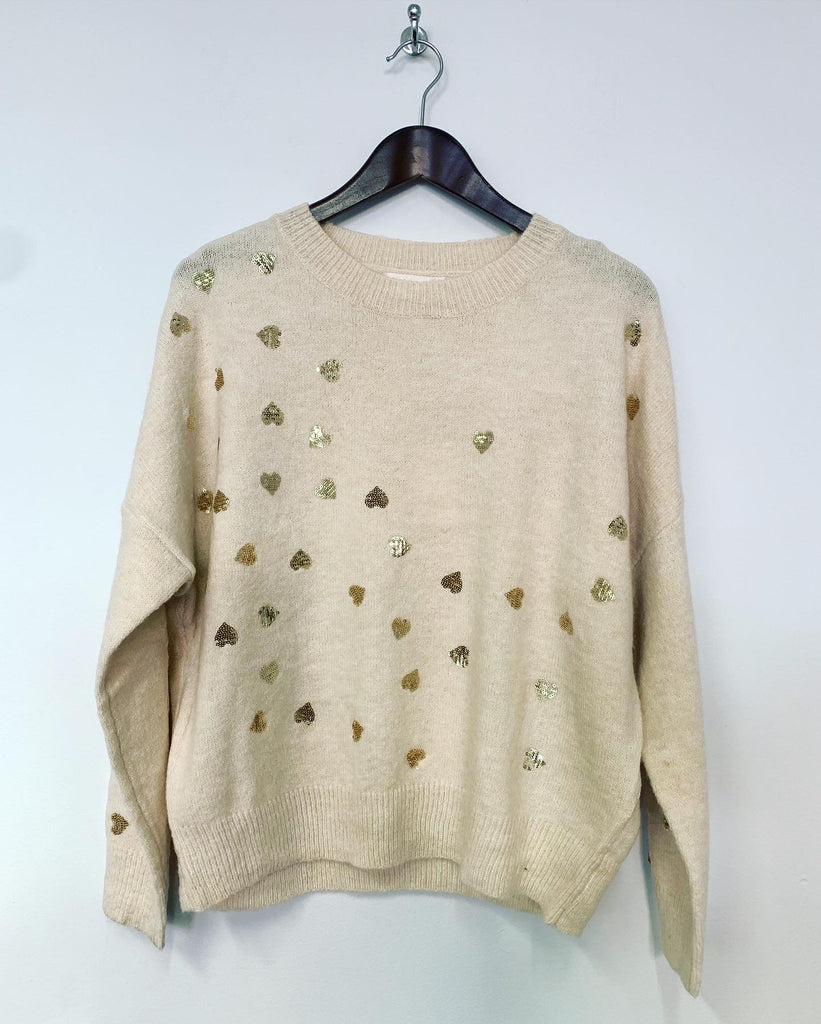 Love Heart Knit Cream