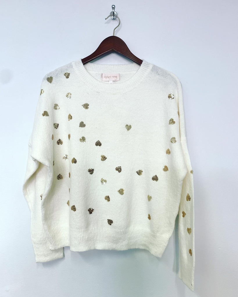 Love Heart Knit White