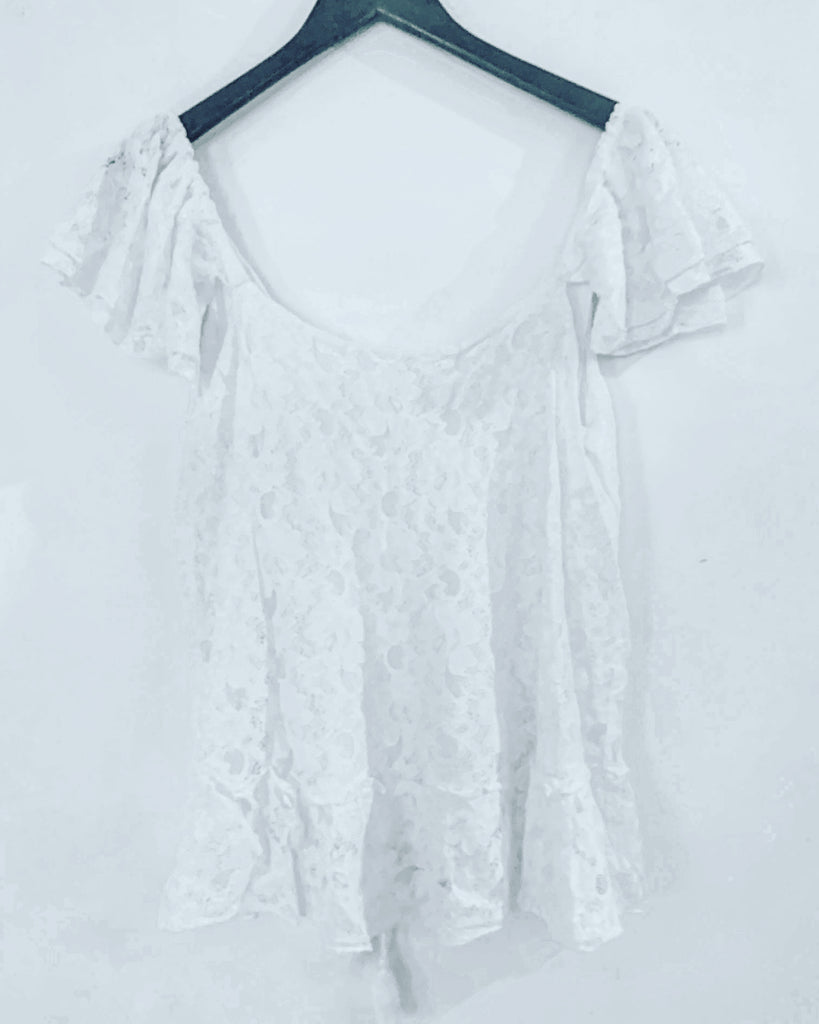 Lexi Lace Top White