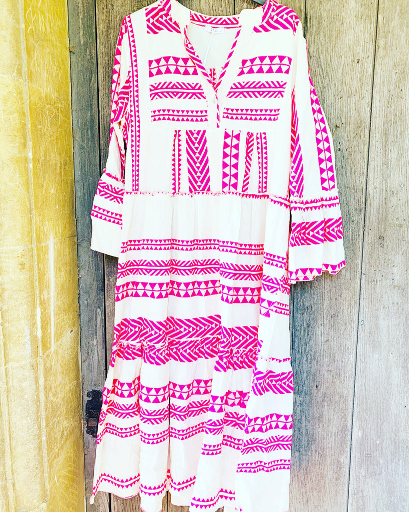 Tribe Maxi Dress Fuchsia