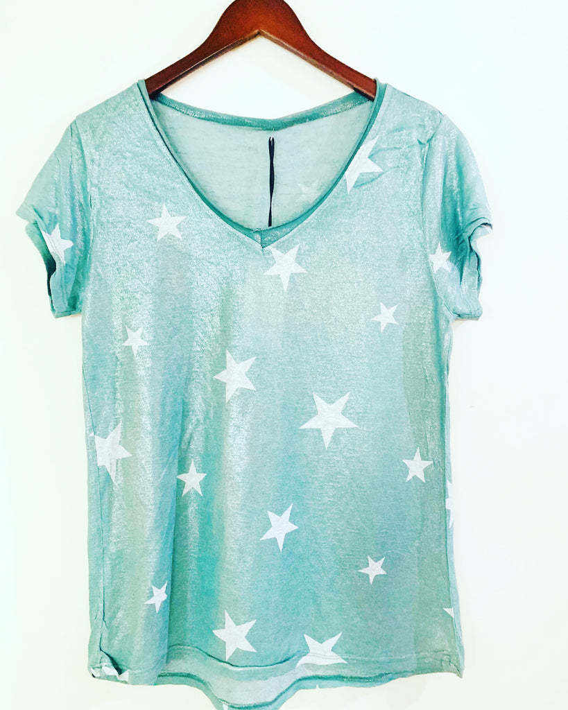 Multi Star Tee Jade