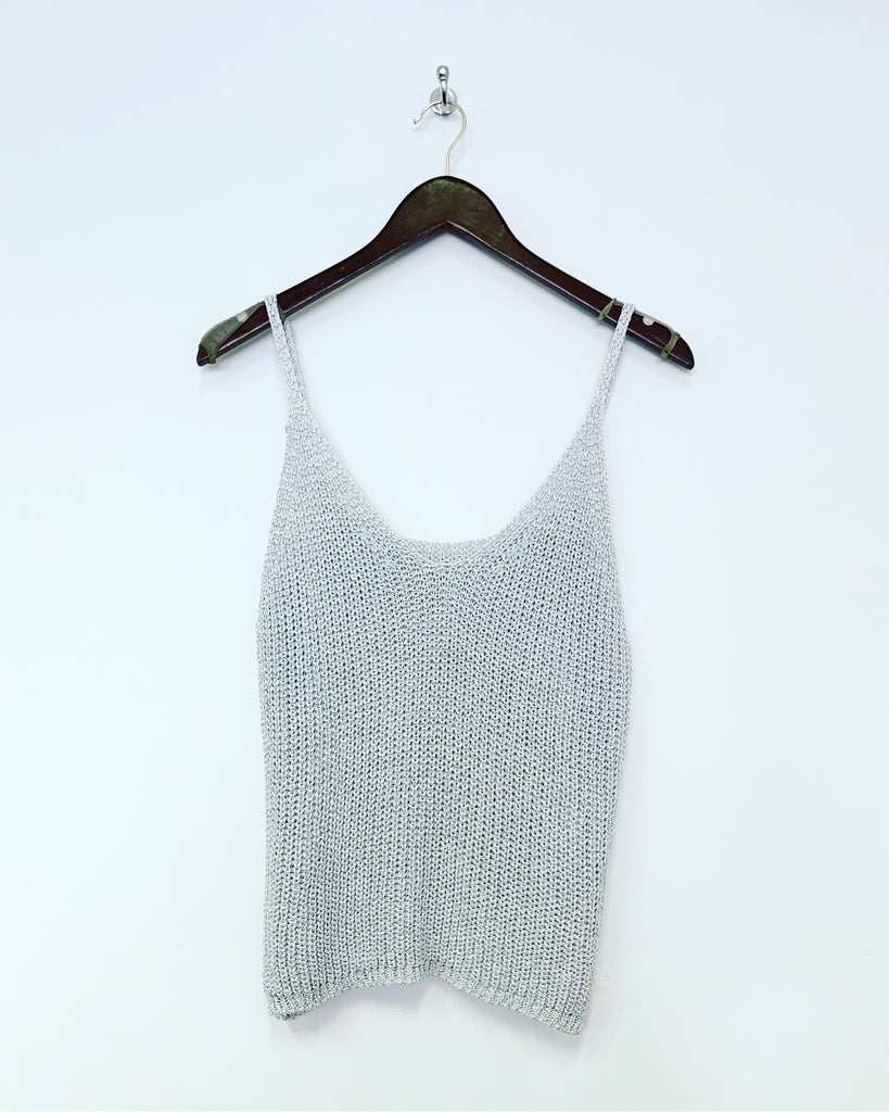 Knit Cami Silver