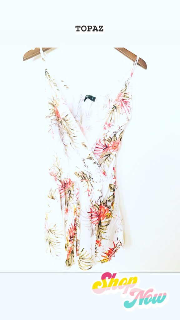 Topaz Playsuit White