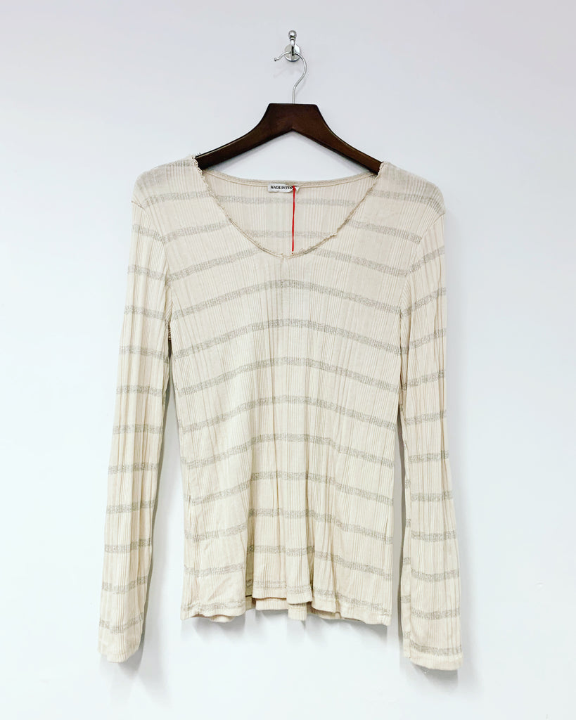 Stripe L/S Top Pink