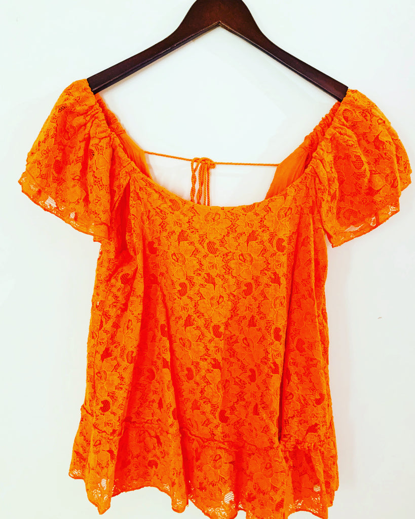 Melanie Lace Orange