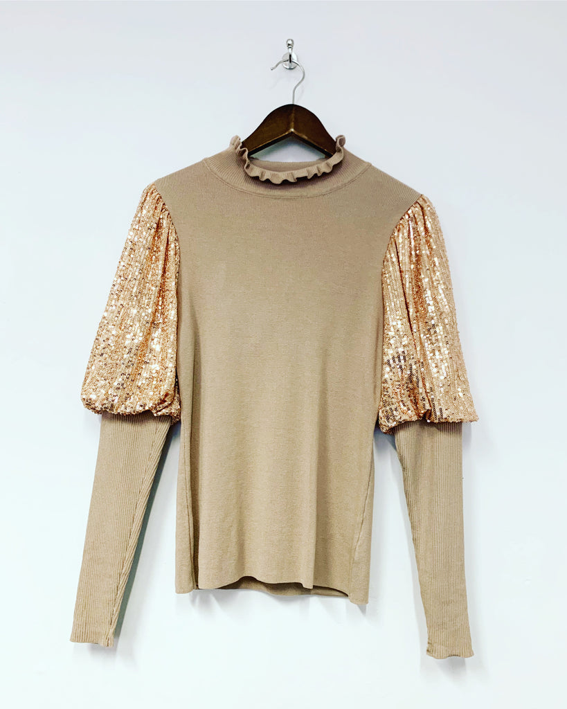 Sequin Knit Gold