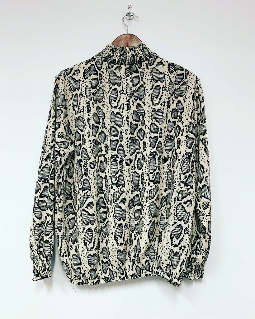 Neutral/Black Snake Blouse