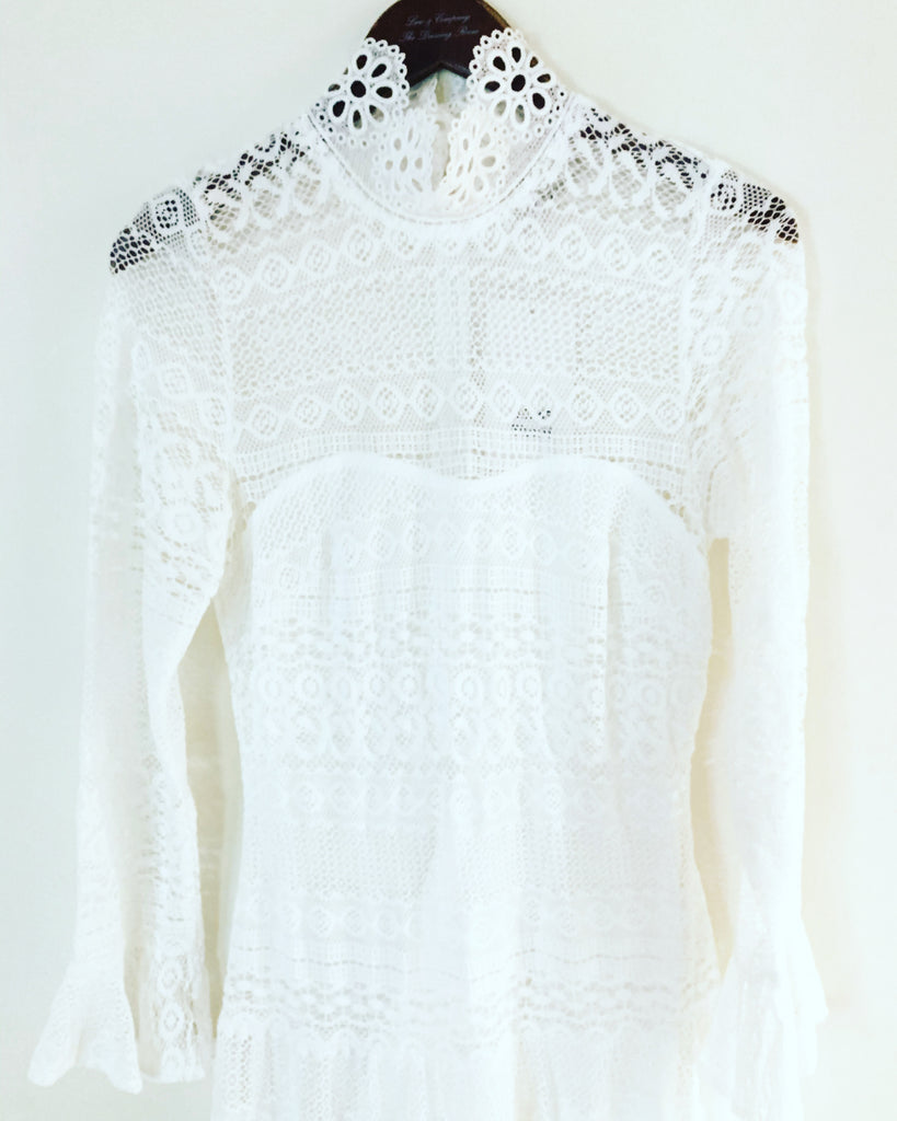 LuLu Lace Dress White