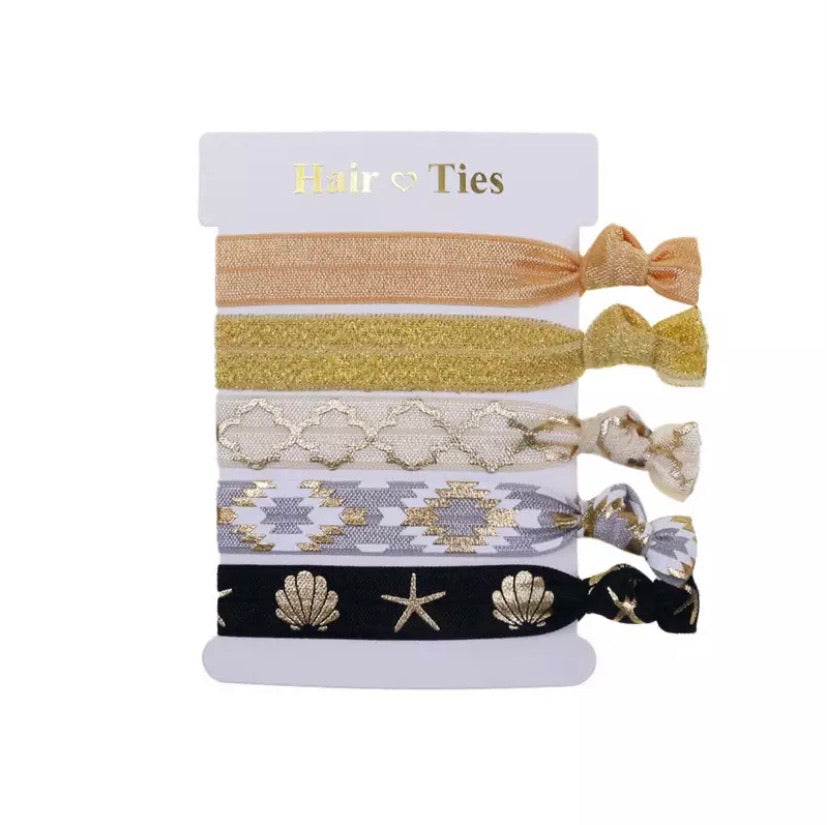 Hair Ties Set Of 5 Nudes