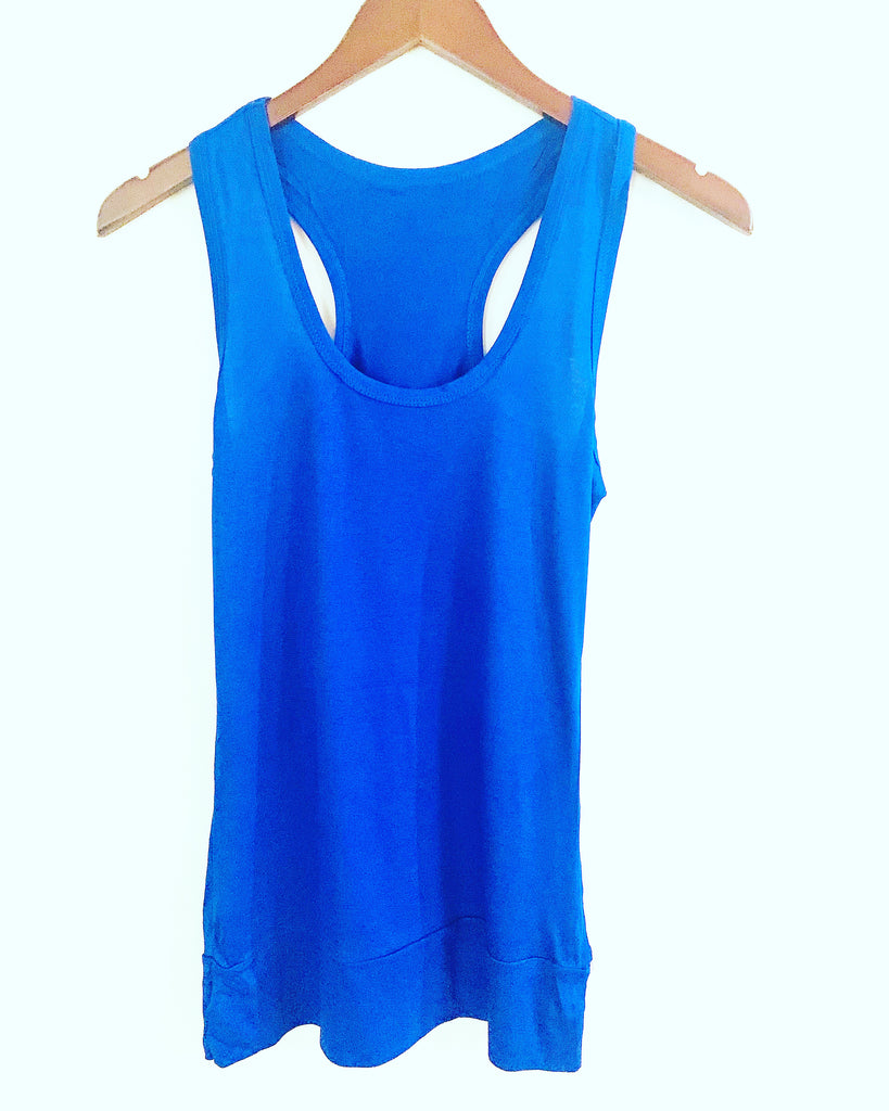 Essential Vest Top Electric Blue