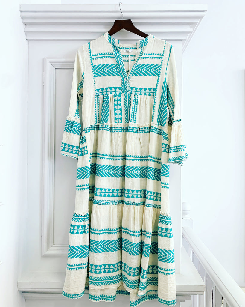 Tribe Maxi Dress Turquoise