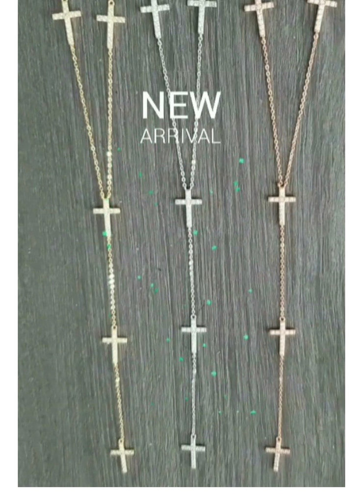 Sophie Cross Necklace Gold
