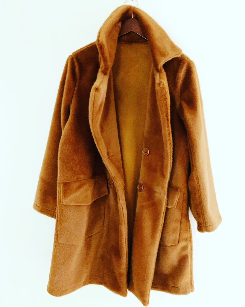 Marcia Faux Fur Coat Tan