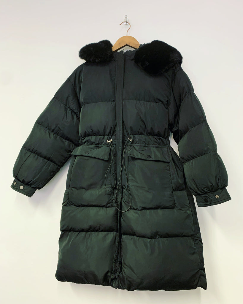 Billie Long Puffer Black