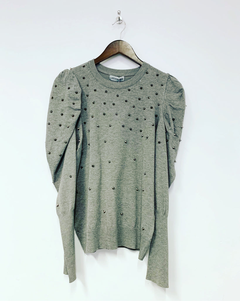 Stud Knit Grey