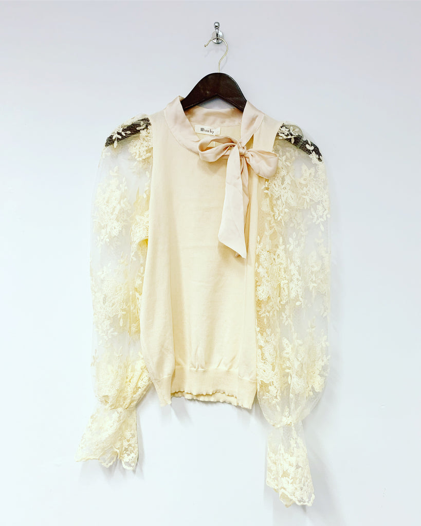 Gia Lace Top Ivory