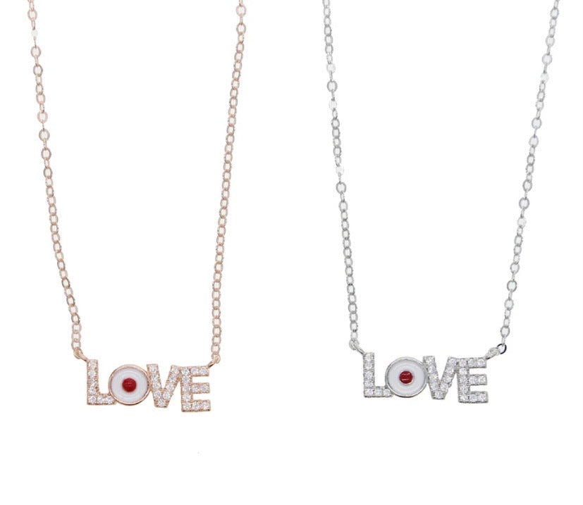 Lulu Love Necklace in Silver