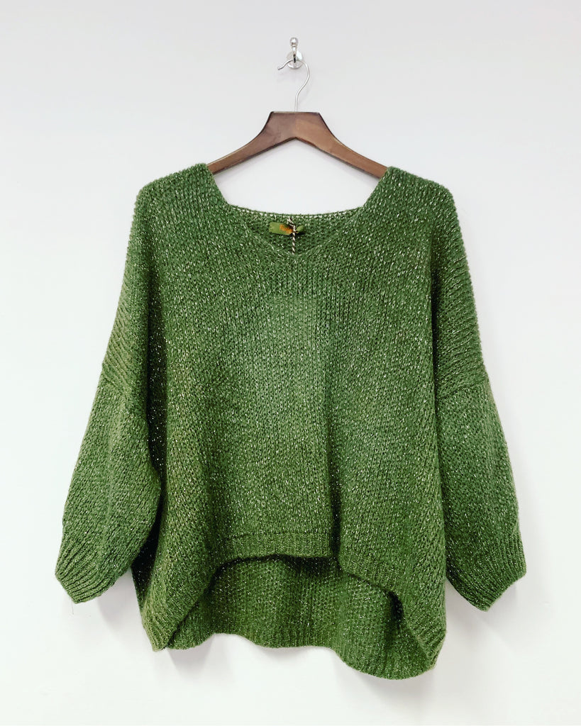 Ellie Star Knit Khaki