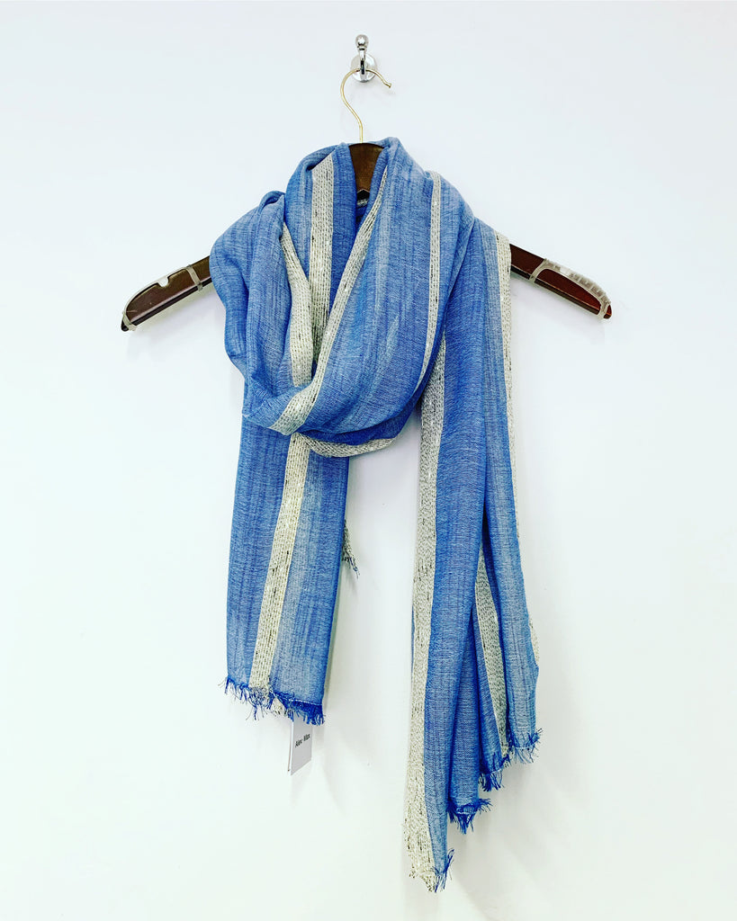 Stripe Scarf Blue