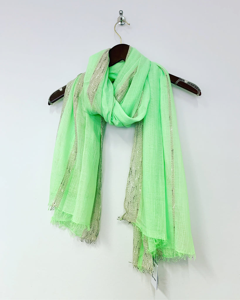 Stripe Scarf Lime