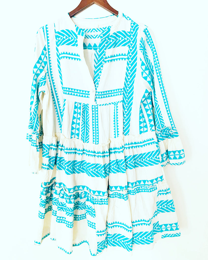 Tribe Dress Turquoise