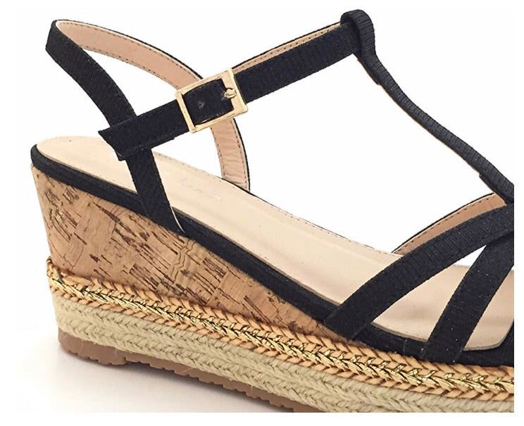 CINDY WEDGE Black