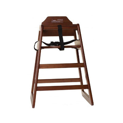 Tablecraft EU Regulation High Chair Walnut - Coffeecups.co.uk