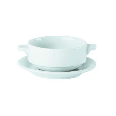 Porcelite Lugged Soup Bowl 10oz - Coffeecups.co.uk