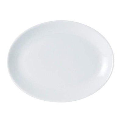 Porcelite Oval Plate 30cm - Coffeecups.co.uk