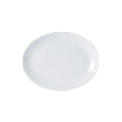 Porcelite Oval Plate 21cm - Coffeecups.co.uk