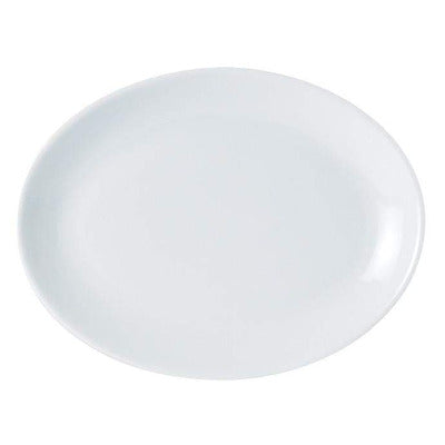 Porcelite Oval Plate 40cm - Coffeecups.co.uk