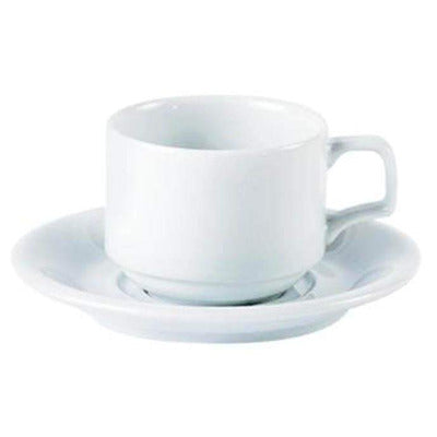 Porcelite Stacking Cup 7oz - Coffeecups.co.uk