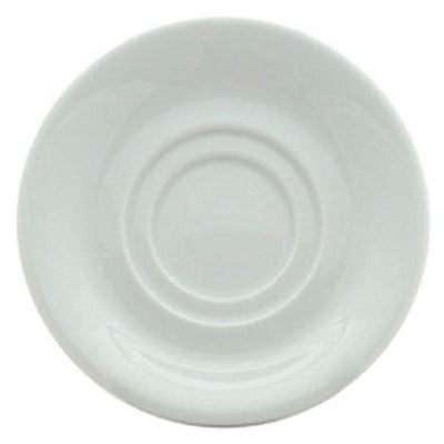 Porcelite Double Well Saucer 15cm - Coffeecups.co.uk