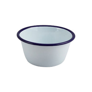 Genware Enamel Round Deep Pie Dishes White 12cm | Genware Enamel | Coffeecups.co.uk