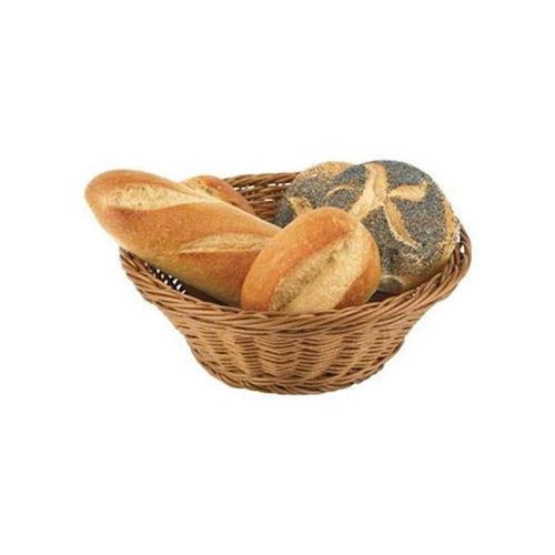 Round Stackable Poly Rattan Basket 25.5cm - Coffeecups.co.uk