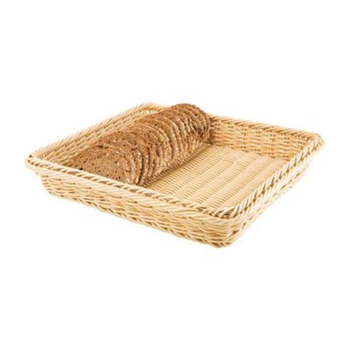 Rectangular Poly Rattan Basket 32.5cm - Coffeecups.co.uk