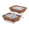 Rectangular Poly Rattan Basket Brown 32.5cm - Coffeecups.co.uk