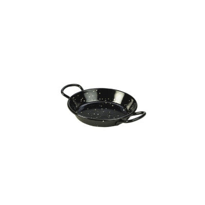 Genware Enamel Paella Pan Black 10cm - Coffeecups.co.uk